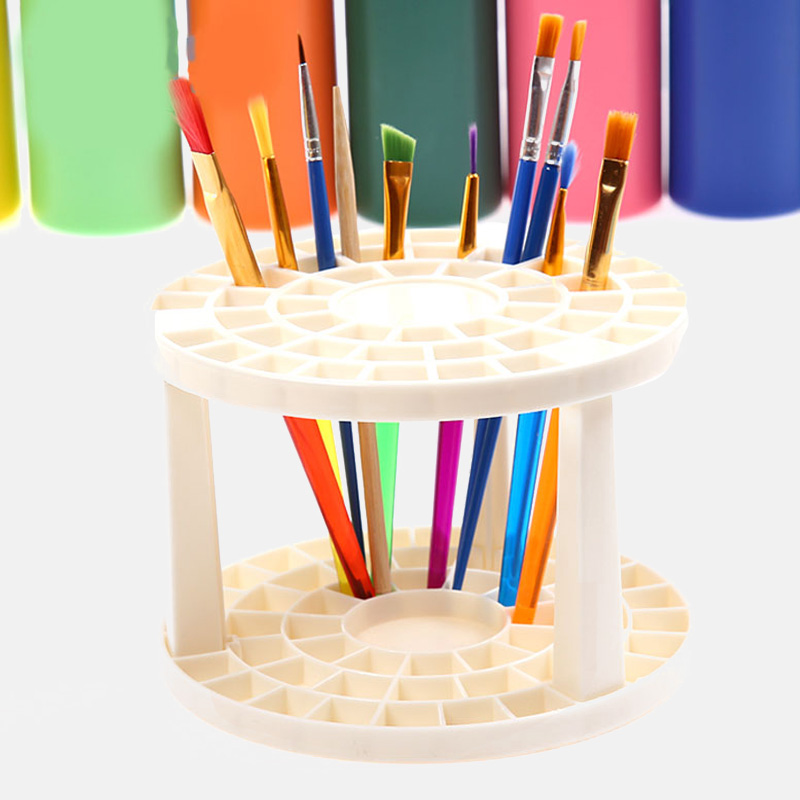49 Holes Pen Rack Display Stand Support Holder Watercolor Painting Brush Pen Holder Art Supplies Paint Brushes Pen Holder