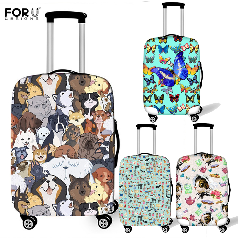 18-21 Inch Luggage Cover Protector Boston Terrier Suitcase Protective Covers with Zipper