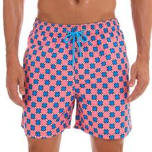 New Arrival Fashion Men Painted Print Swimming Trunk Pockets Surf Board Shorts