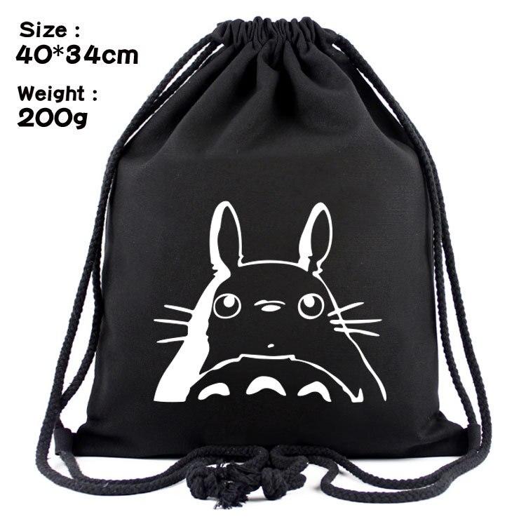 Cute Cartoon Totoro Anime Backpack Adult Men Cool Print School Bag Student Canvas Bag Girl Mochila