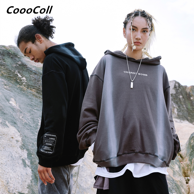 CoooColl Hoodies 19FW BOMB HOODIE New Fahion Casual Kanye west Style hooded Hip Hop Casual Overszied Warm Men Sweatshirt Street in Hoodies amp Sweatshirts from Men 39 s Clothing