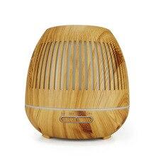 400ml Humidifier Hollow Night Light Wood Grain Mini Air Purifier Aromatherapy Machine