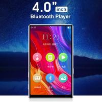 Reproductor MP3 con pantalla completamente táctil, reproductor de música con Bluetooth 4,0, altavoz incorporado de 4,0 pulgadas, 8G, con E-book, Radio, grabación y reproducción de vídeo