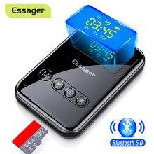 Essager Bluetooth 5.0 nadajnik-odbiornik 3.5mm Jack Aux Audio Adapter bezprzewodowy do komputera TV słuchawki samochodowy Bluetooth 5 0 odbiornik