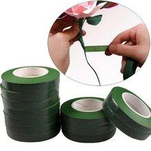 Bande adhésive en papier vert auto-adhésif   2 rouleaux, 30M, Film Floral pour guirlande couronne, fleur artificielle en soie, artisanat bricolage
