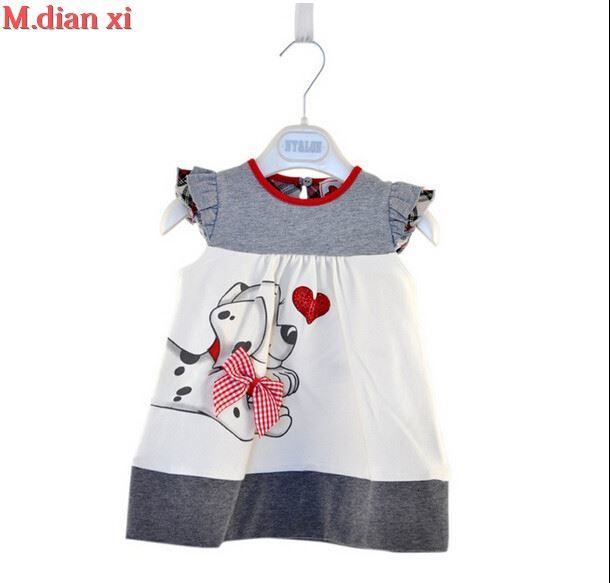 H6df316b63b2d4a9eaaa4eb324609514fM Girls Dress 2018 Summer Explosion Solid Color Denim Dress Cartoon Polka Dot Bow Cartoon Bunny Satchel Korean Baby Cute Dress