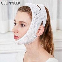 Дышащая v-образная подтяжка щек для лица, тонкая маска для лица, уменьшающая двойной подбородок, v-образная форма, повязка против морщин, подтягивающий пояс
