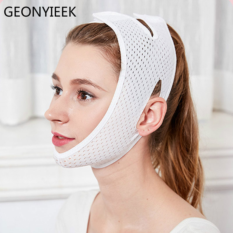 Breathable V Face Cheek Lift Up Band Face Thin Mask Reduce Double Chin V-Line Shaping Bandage Anti Wrinkle Tension Firming Belt