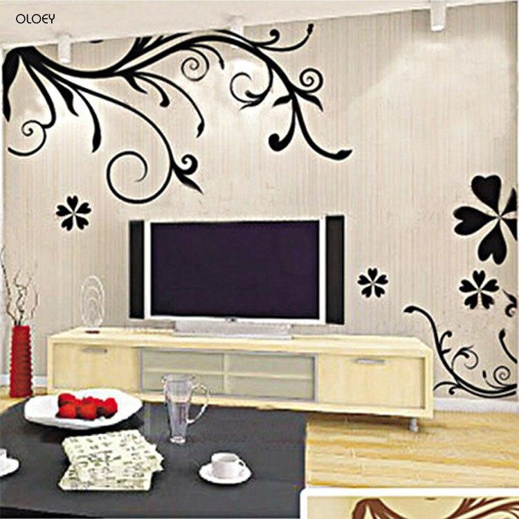 Горячая DIY стены искусства Наклейка украшения моды Романтический цветок стикер стены/стикер стены s домашний Декор 3D обои Бесплатная