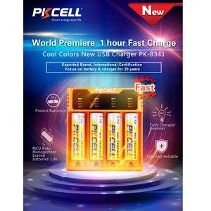 Image 2 - 1 pces pkcell carregador de bateria inteligente para 1.2v 3.7v 3.2v aa/aaa 26650 nimh li ion battery18650 carregador de bateria 5v 2a