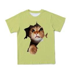 2021 Summer 3D Men's Animal Kitten Print T-Shirt Fashion Short-Sleeved Tee O-Neck Super Cute Cat Casual Clus Size 110-6XL