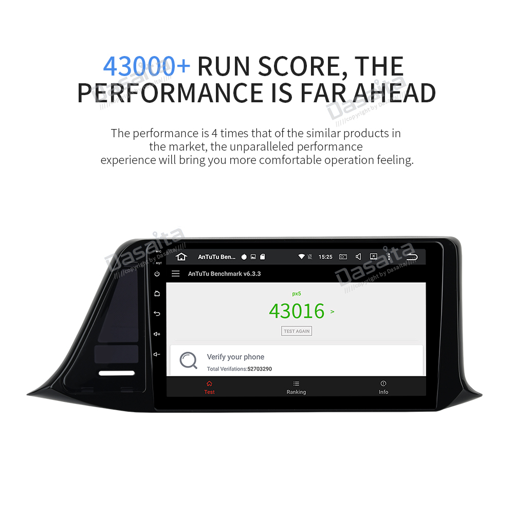 """Clearance Dasaita 9"""" IPS Android 9.0 Car Multimedia Player for Toyota C-HR CHR RHD GPS 2016 2017 2018  Navigation Bluetooth 1080P Video 12"""