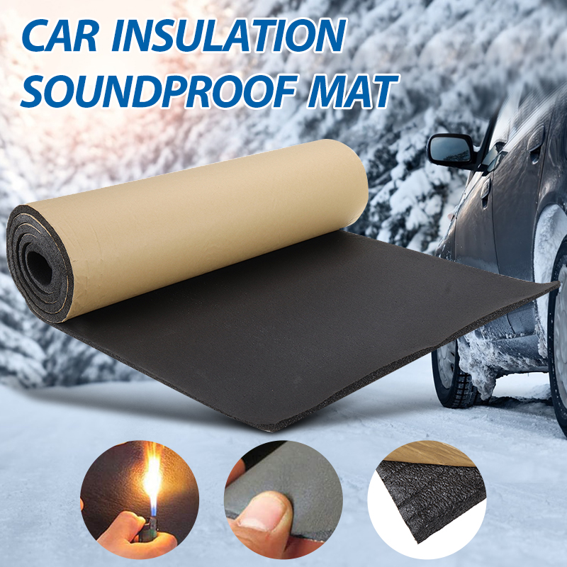 1Roll 200cmx50cm 3mm-30mm Car Home Soundproof Deadening Truck Anti-noise Sound Insulation Cotton Heat Closed Cell Foam Deadener