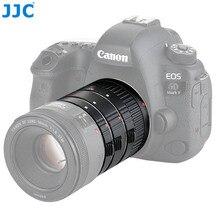 Jjc 12mm/20mm/36mm tubo de extensão automática com tampa do corpo & tampa da lente traseira para canon ef/EF S montagem se encaixa câmera de fotografia macro