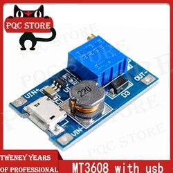 1PCS MT3608 2A maximum DC-DC boost power supply module boost power supply module input voltage 2-24V rise 5/9/12/-28V adjustable