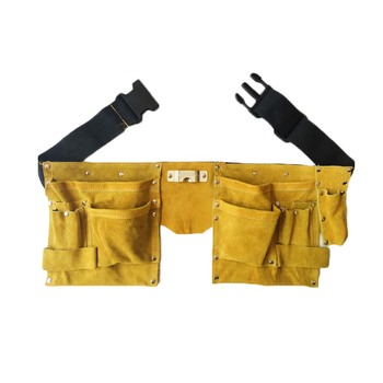 Multi-functional Leather Tool Belt Quick Release Buckle Carpenter Construction Work Tool Organizer Storage Pouch Belt edcgear carpenter s multi functional grinder plane blade silver