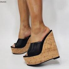 Olomm/популярные женские босоножки на платформе с ремешком пятке