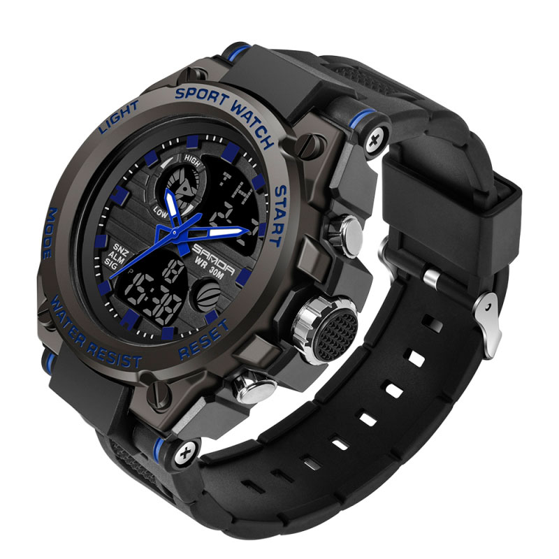 H6df3a3f14a76465eb41f67086836dd68O - SANDA 739 Sports Men's Watches Top Brand Luxury Military Quartz Watch Men Waterproof S Shock Male Clock relogio masculino