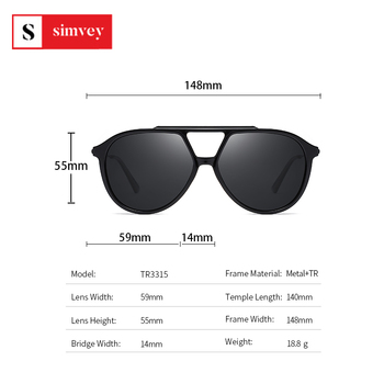 2020 Fashion Oversized Polarized Sunglasses Vintage Women Mens Aviator Sunglasses Brand Design 3
