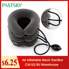 Air Inflatable Cervical Collar Neck Traction Tractor Support Massage Pillow Pain