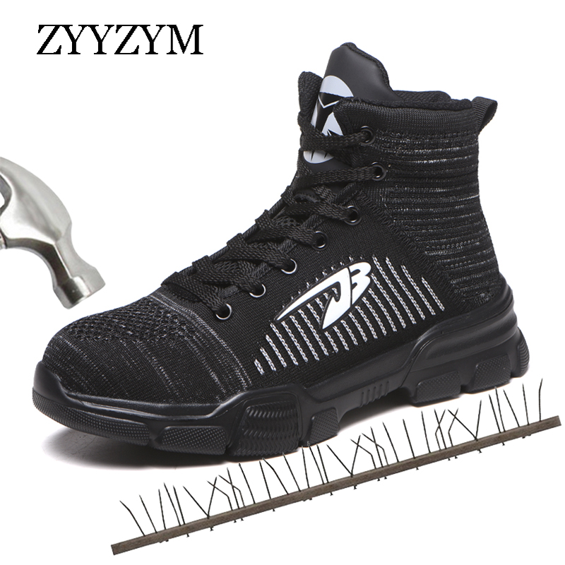 ZYYZYM Steel Toe Men Safety Boots Autumn Winter Keep Warm Industrial & Construction Safety Boots Men Anti-piercing Work Boots