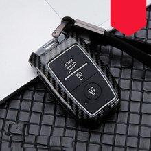 Cabon Fiber Smart Car Key Case Cover For Kia Ceed Rio 2014 R K2 K3 K4 K5 Sorento Cerato Optima QL R 2015-2018 Car Accessories