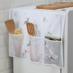 1 szt. Lodówka do użytku domowego lodówka ręcznik z etui do przechowywania torby pralka wodoodporny organizer torby wiszące|Pokrowce na lodówkę|Dom i ogród -