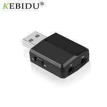 Kebidu USB محول جهاز إرسال بلوتوث استقبال صغيرة 3.5 مللي متر AUX ستيريو سماعة لاسلكية تعمل بالبلوتوث V5.0 محول ل سيارة الموسيقى للتلفزيون