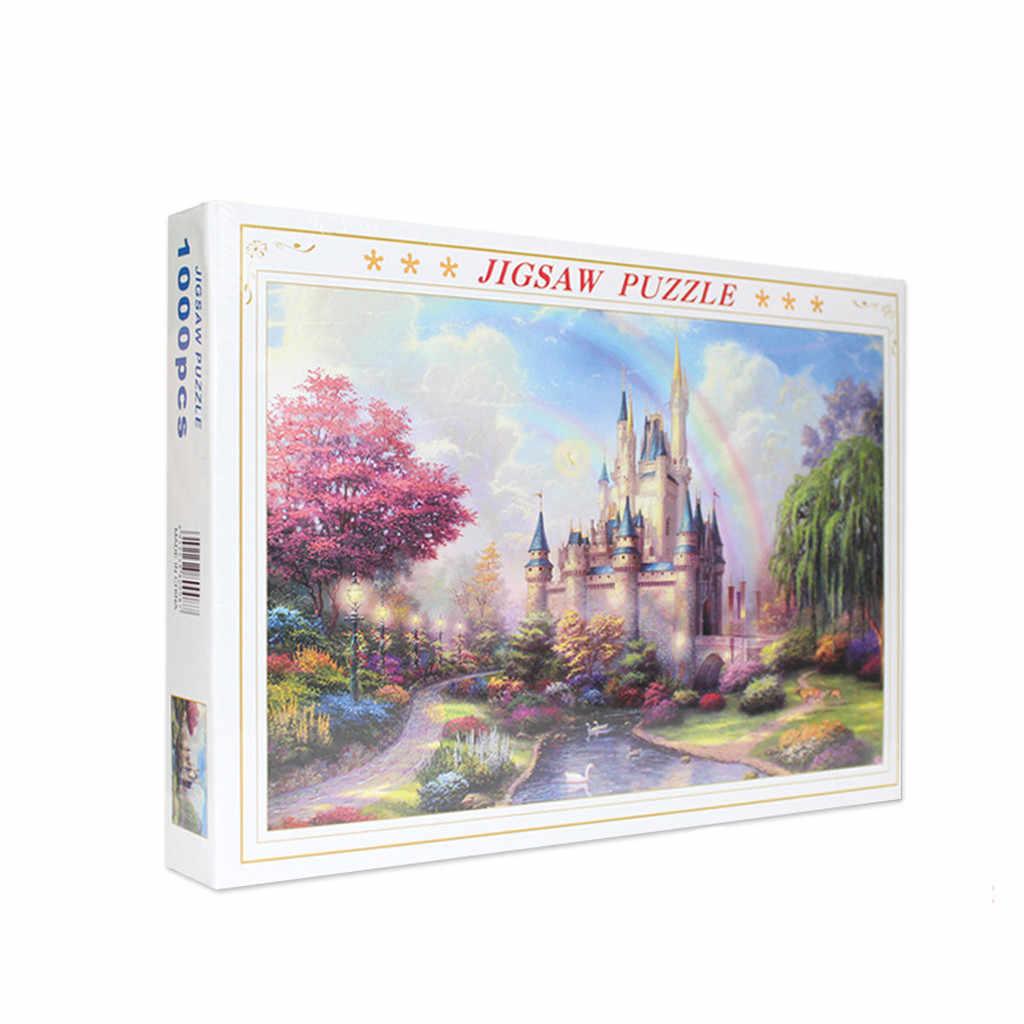 ミュウ jagsaw によるパズル-虹城-1000 ピース 27.56 19.69 大人のための子供のギフト子供のためのゲーム知育玩具