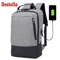 Fashion men 15.6 inch usb charging anti theft business laptop backpack  larger capaticy multifunction travel backpack bags
