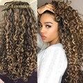 Цветной афро монгольский кудрявый парик 13x6 Выделенный Hd прозрачный фронтальный медовый блонд человеческие волосы парики предварительно в...
