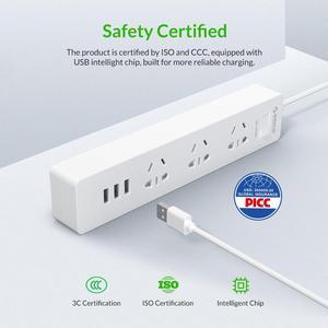 Image 3 - Orico Power Strip 1.5m Cable Electrical Socket Plug 250V 2500W 5V 2.4A 3USB Ports with EU Plug Adapter Extension Power Strip