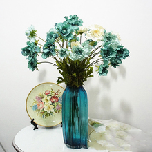 1pc Fabric flowers DIY Home decoration accessories 3 flower heads Artificial Fake Preserved Eternal Life gift 7 colors