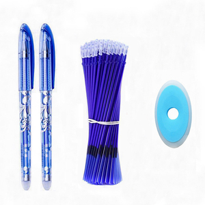 Erasable Pen Set 0.5mm Blue Black Color Ink Writing Gel Pens Washable handle for School Office Stationery Supplies(China)