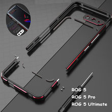 Metal Bumper Frame For For ASUS ROG Phone 5 Pro Ultimate Case Aluminum Dual color Luxury Metal Phone Cover+ carmera Accessories