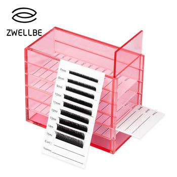 Przedłużanie rzęs schowek akrylowy Lash stojak do przechowywania talerzy Organizer przedłużanie rzęs organizator przedłużanie rzęs narzędzia tanie i dobre opinie zwellbe 13 x 6 7 x 10 5 cm Acrylic Zestaw narzędzi do makijażu D070882 Eyelash Storage Box As pictures Transparent White