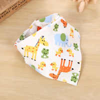 1Pcs Baby Bibs Boy Girl Bandana Cotton Absorb Bib Burp Cloth Triangle Towels Baby Scarf Burp Newborn Bath & Shower Accessories