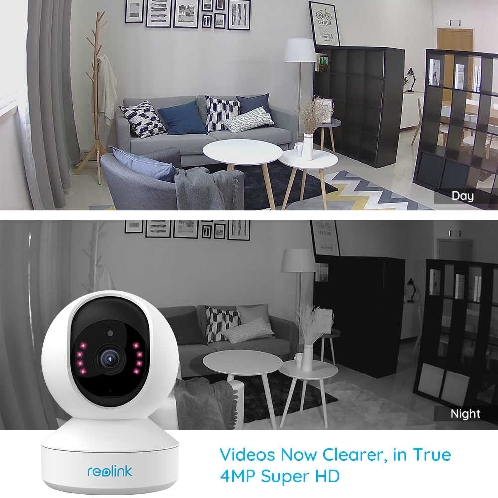 ريولينك E1 Pro 4MP مراقبة الطفل اتجاهين الصوت داخلي 2.4G/5G واي فاي كاميرا عموم/إمالة داخلي أمن الوطن كاميرا IP