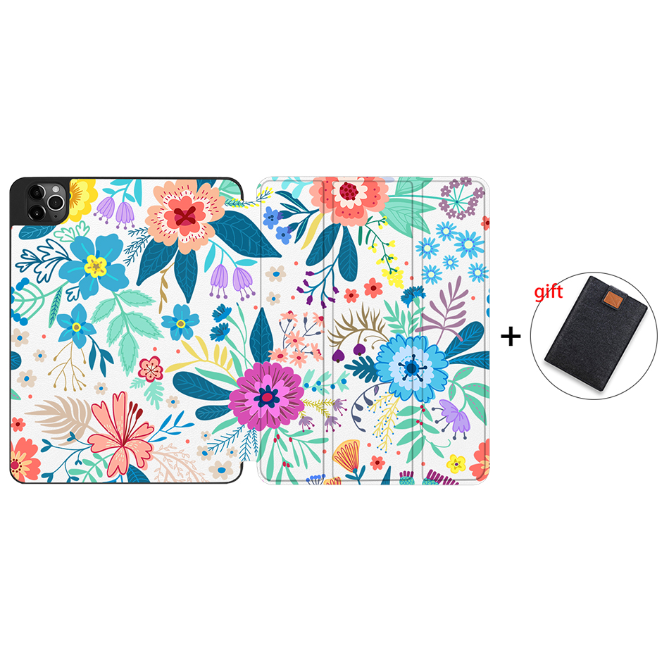 IPTPU17 Khaki MTT Soft TPU Case For iPad Pro 11 inch 2nd Gen 2020 Tablet PU Leather Flip