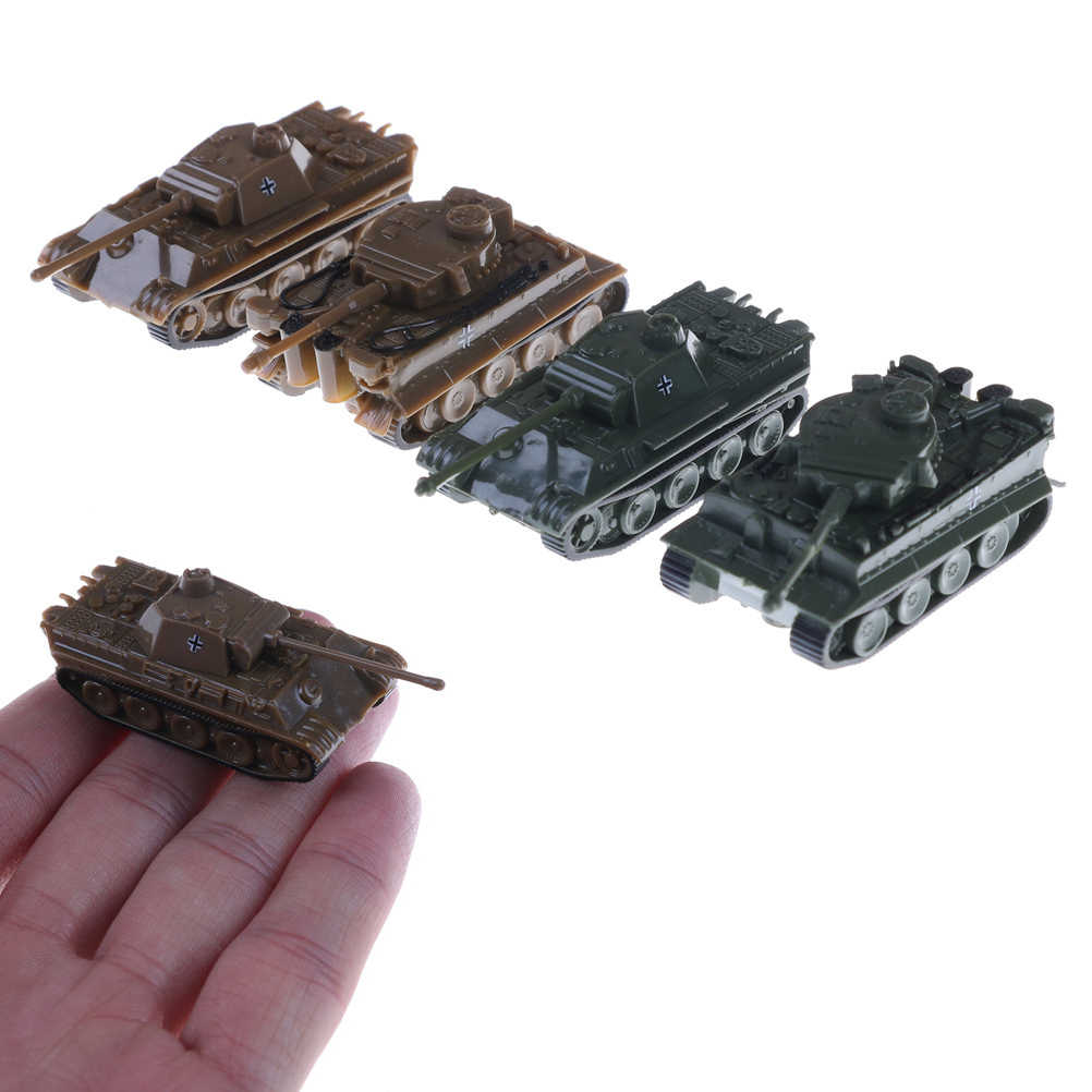 1PCS/Set 1:144 Scale Finished Model Toy 4D Sand Table Plastic Tiger Tanks World War II Germany Panther Tank