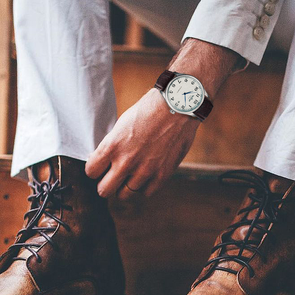 H6df51dac18284191bde4f4de132fb3d5s Fashion Business Men Automatic Wrist Watches Leather Strap Male Mechanical Watches Calendar Date Clock montre homme +GIFT BOX
