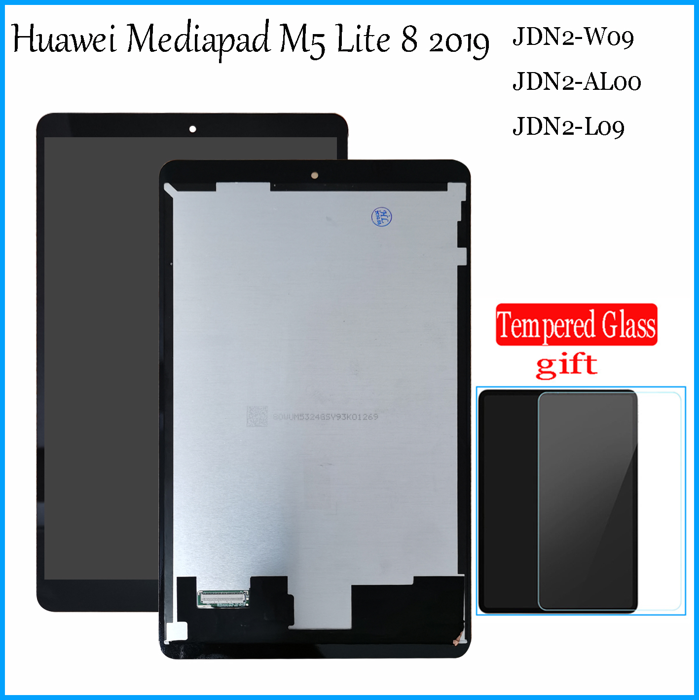 New 8.0Inch For Huawei Mediapad M5 Lite 8 2019 JDN2-W09 JDN2-AL00 JDN2-L09 LCD Display Touch Screen Digitizer Assembly
