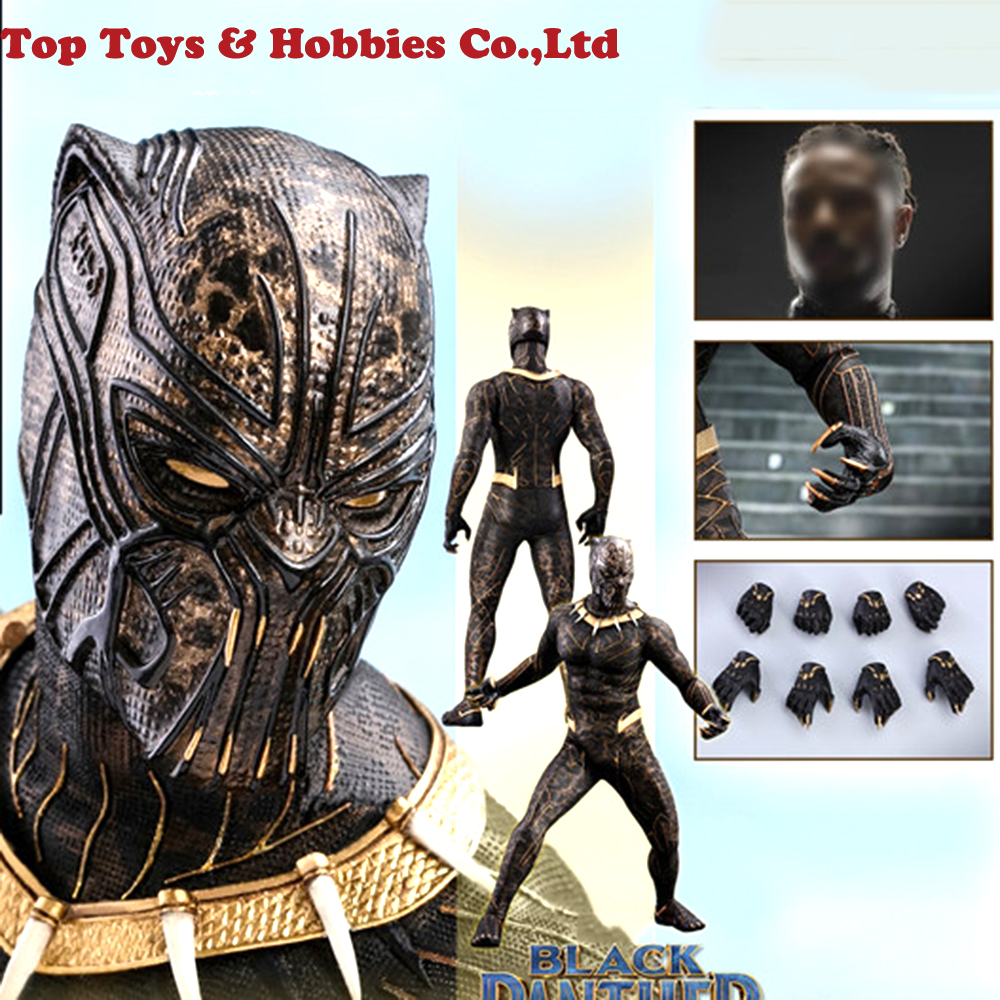 Full Set Figure Doll Hot Toys MMS471 Black Panther 1/6 Scale Scale Erik Killmonger Collectible Figure