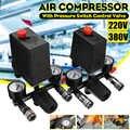 Drillpro 240 V/380 V AC רגולטור Duty אוויר מדחס משאבת לחץ בקרת מתג משאבת אוויר בקרת שסתום 7.25 -125 PSI עם מד