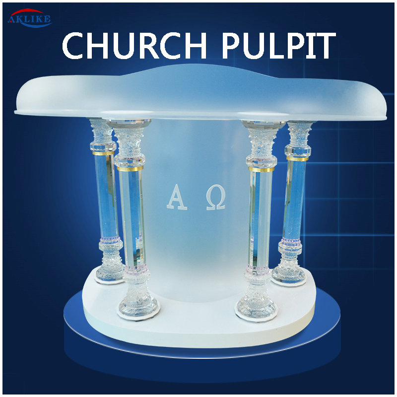 Modern Clear Acrylic Church Pulpit Glass  Designs Glass Speech Lectern Plexiglass Transparent  Podium  AKLIKE Speech Lectern