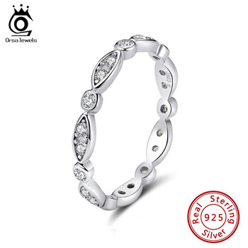 lesf vintage style 925 sterling silver 1 25 ct oval cut trendy wedding ring for women zircon engagement ring trendy jewelry ORSA JEWELS Genuine 100% 925 Silver Ring Classic Style Eternity Rings For Engagement & Wedding Party Trendy Jewelry ASR71