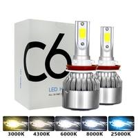 C6 H1 H3 Led Scheinwerfer Lampen H7 LED Auto Lichter H4 880 H11 HB3 9005 HB4 9006 H13 6000K 72W 12V 8000LM Auto Scheinwerfer