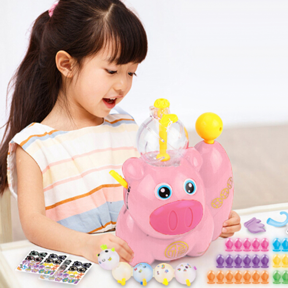 Cute Pig Children DIY  Magic Sticky Ball Fun Inflating Bubble Kids Toy New