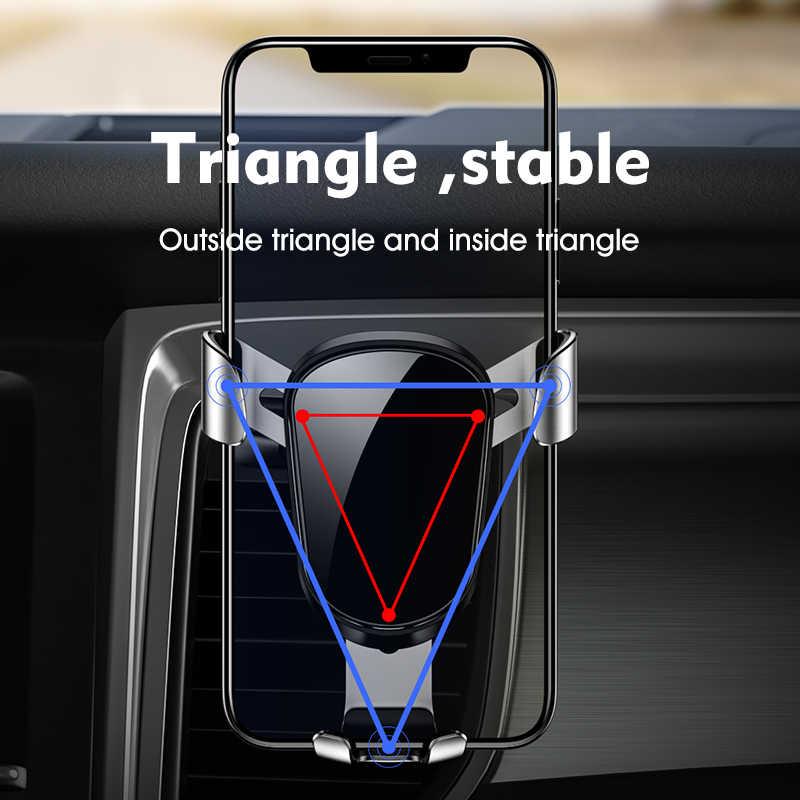 LINGCHEN гравитационный Автомобильный держатель для телефона для iPhone 11 держатель на вентиляционное отверстие автомобиля Стенд нет магнитный держатель для мобильного телефона смартфона гравитационный кронштейн