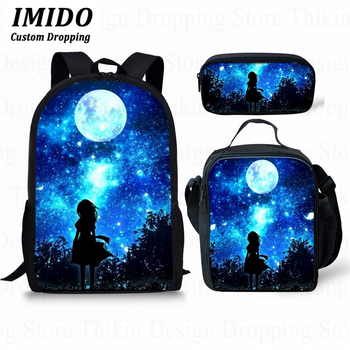 3PCS School Bag Set Unicorn Galaxy/ School Backpack for Boys Girls Teenagers Student Travel Book Bag Schoolbags for Gifts фото